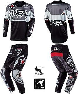 Black//Blue//Red//Large Shot Score Mens Off-Road Motorcycle Jersey