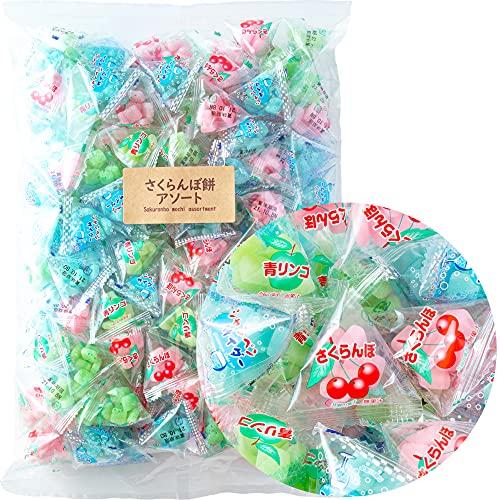 吉松 さくらんぼ餅ミックス ( 1kg / 個包装 (テトラパック) ) 業務用 ミックス餅 駄菓子 餅飴 ( まいガム工房 )… (1kg)