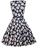 Floral Vintage Dress for Evening Cocktail Party Size S F-57