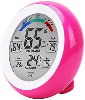 XYXZ Mini Higrómetro Digital Interior Pantalla LCD Redondo Inalámbrico Temperatura Electrónica Medidor De Humedad Probador...