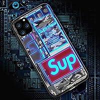アイフォンケーススマホ IPhone12,12mini 保護カバー 12 Pro Max耐衝撃強化ガラス LEDフラッシュ通知着信光る薄型スリム,C-iPhone12ProMAX
