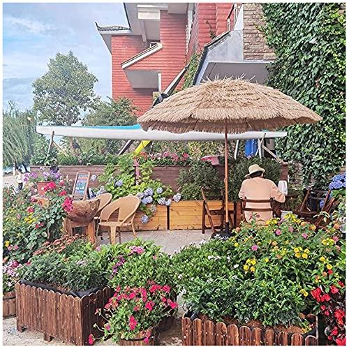 WUKALA Sombrilla de Playa Hawaiana de 2m,Sombrilla de Jardín Estable,sombrillas Terraza Portátiles,Altura Ajustable,para Jardín Patio Terraza Playa Piscina