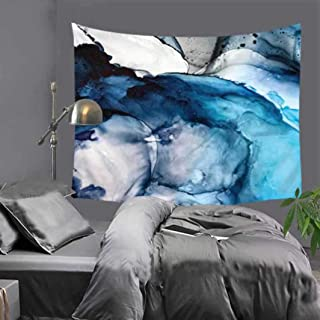 Vic Gray Marble Tapestry Polyester 3D Printed Yoga Mat College Dorm Decoration Geometric Art Wall Blanket,75x87cm