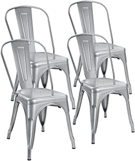Silver Kitchen & Dining Room Chairs | Amazon.com