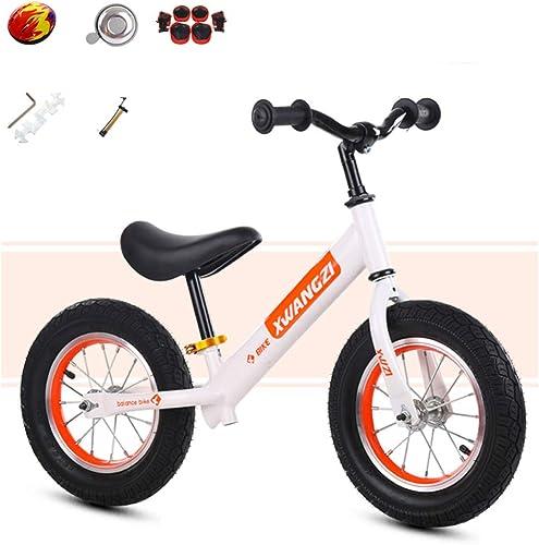 shuhong Kinder Laufrad Laufürnrad Kinderrad Leichtgewicht Verstellbarer Lenker Und Sitzh  Eva Rad Mehrere Farben 2-6 Jahre   80-120cm  ,A_Weiß