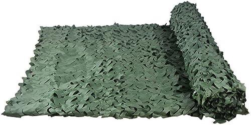 Filet de camouflage militaire, dense, ajouter un réseau de renfort, adapté pour se cacher, couvrir les véhicules et les terrains de chasse de tir décoratifs (plusieurs tailles disponibles, vert pur)