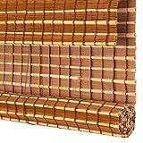 Bambusrollo, Holzrollos im japanischen Stil, Verdunkelungsrollos aus Bambus und Schilf, Sonnenschutz für den Pavillon im Freien (Size : W60cm X H100cm)