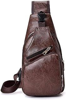 Men's Burglar USB Charging Shoulder Crossbody bag Men&Female Stealth Zipper Business Chest Pack Repellent Anti-theft Packa...