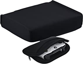 YoRHa Dust & Water Proof Neoprene Cover Black[Horizontal] Place for Xbox One X Console x 1 & Universal Travel Carrying Chargeable Soft Cover Case Sleeve (Black) x 1