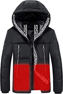 USB Electric Heated Jacket,Heating Down Constant Temperature Warming Rechargeable Clothes Rechargeable Clothes For Men and...