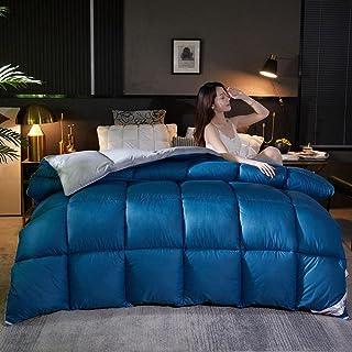 Couette 240x220,Le Printemps Et L'Automne sont Chauds Et éPais Hiver-Bleu + Gris_220x240cm 3000g