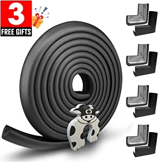 Edge Guard & Corner Protector - Extra Long 19.0ft [16.5ft Edge + 8 Pretaped Corners] with Baby Proofing, Home Safety Furniture Bumper and Table Edge Guards Child Safety [Black]