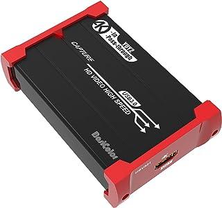 Basicolor321 キャプチャーボード switch対応 PS4 PS5 Xbox Wii U ウェブカメラに対応、HDR10 4K HDMI パススルー、超低レイテンシーUSB3.0 キャプボ1080P@60Hz 、HDMIゲーム録画、...