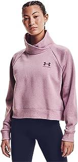 Under Armour Women's Rival Fleece Wrap Neck Pullover , Mauve Pink (698)/Ash Plum , Large