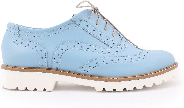 Zapato 258, Damen SchnürHalbschuhe, Blau - blau - Gre  38