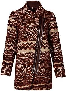 Patterned Faux Fur Coat