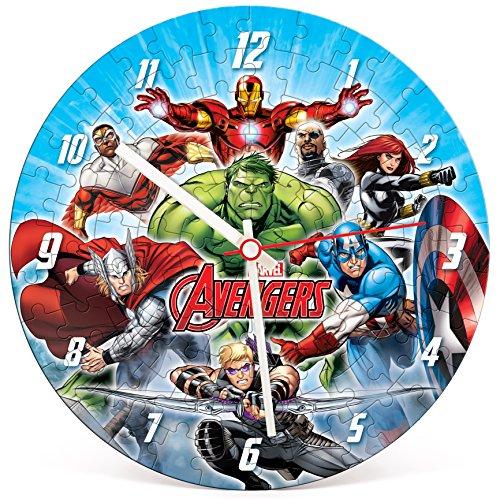 Clementoni - Puzzle Clock, Vengadores/Avengers, 96 Piezas (230235)
