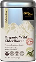 Elderflower Tea - Organic Loose Flower - Caffeine Free - Pharmacopoeia Grade Potency - 2.11 Ounces - (20 Servings)