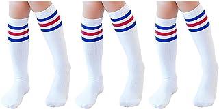 Knee High Tube Socks for Boys, Girls, Baby, Toddler & Child 3,4 Pairs