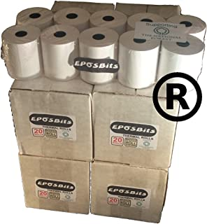 EPOSBITS® - Rollos para caja registradora Casio Small Draw TE-M80 TEM80 TE M80 TEM-80 TM80 TM 80 TM-80-80 rollos