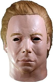 Star Trek Captain Kirk Mask 1975 Men's Costume Latex Overhead Black