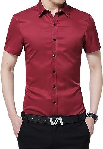 Camisa de Oficina para Hombre Camisa Casual de Manga Corta ...
