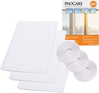 3 Pack Mosquito Net for Windows, Phogray [Upgrade] Fly Window Screen Mesh Insect Netting 1.3m x 1.5m Bug Bee Mosquito Protector with 3 Rolls Self-Adhesive Tapes [10mm Wide] White