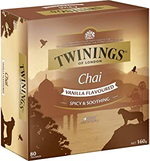 5 Pack of Twinings Chai Vanilla Flavoures Tea Bags 80 Pack