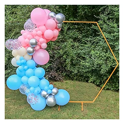 Shimmer and Confetti DIY Balloon Garland and Arch Kit for Gender Reveal, Wedding and Birthday Party (Metallic Silver, Blue and Pink Colors)