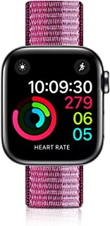 WNIPH Newest Compatible for Apple Watch Band 42mm 44mm, Nylon Replacement Sport Strap Compatible with Apple Watch Series 5/4/3/2/1 (Berry, 42/44mm)