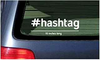 Hashtag Words Sticker Window Decal Vinyl Cut Customized Personalized Wording Link Your Social Media Hash Tag Text Custom Lettering