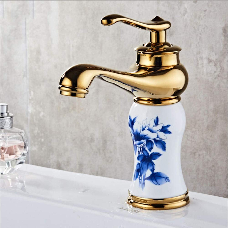 Wffmx Messing Waschbecken Wasserhahn Einhand Mit Keramikkrper Und Griff Mischer