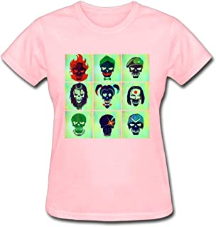 Refined Suicide Squad Character Posters Women's Cotton Short Sleeve T-Shirt