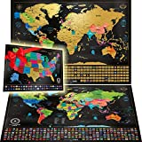 Best World Maps - Scratch Off Map of the World + USA Review