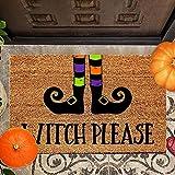 halloween doormat blanket welcome home front door decorations,halloween coir welcome mats for front door, funny door mats outside,non slip doormat,halloween home door mat absorbent mat (40*60cm, D)