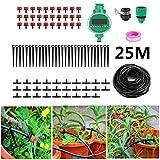 SHIJING 25 mt DIY Micro Tropfbewässerungssystem Gartenpflanze Selbst Automatische Bewässerung Timer Gartenschlauch Kits Mit Einstellbarer Tropfer