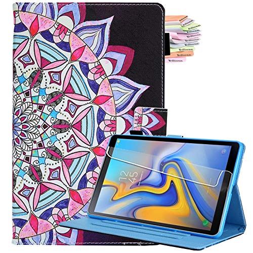 Billionn for Samsung Galaxy Tab A7 10.4 Case 2020, PU Leather Folding Stand Cover for Galaxy Tab A 7 (SM-T500/T505/T507 2020) with Auto Sleep/Wake, Mandala