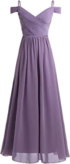 Henraly The Shoulder Pleated First Communion Long Dress for Vestidos Elegant Party Dress Prom Gown