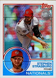 2018 Topps Update 1983 Chrome Silver Wrapper #135 Stephen Strasburg Washington Nationals MLB Baseball Trading Card