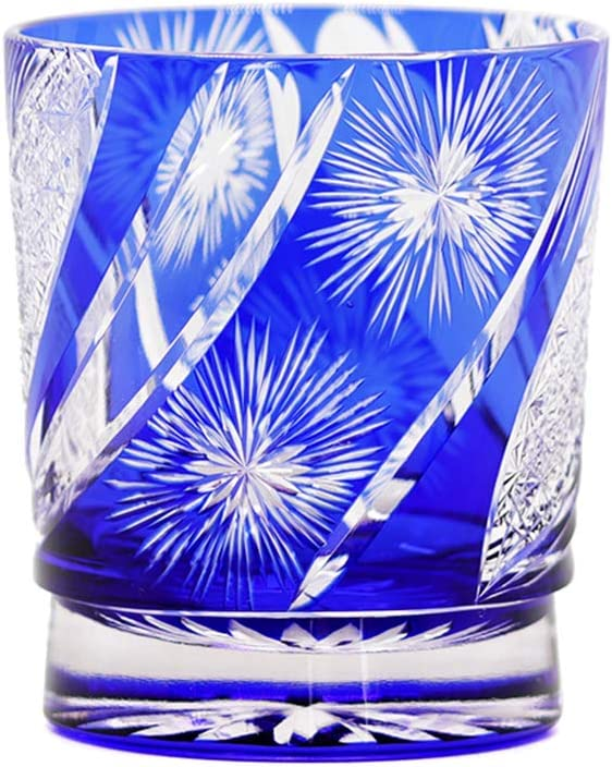 Limited time cheap sale JINZHI Crystal Whiskey Glasses Cup 2021 model With 9 Ounc Pattern Fireworks