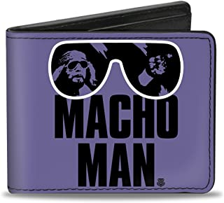 "Buckle-Down Buckle-Down Bifold Wallet WWE Macho Man Randy Savage Accessory, -WWE Macho Man Randy Savage, 4.0"" x 3.5"""
