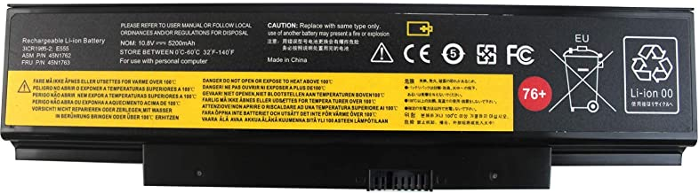Gomarty 45N1762 76+ Laptop Battery Compatible for Lenovo ThinkPad (Edge) E550 E550c E555 E560 E565 Series 3INR19/65-2 45N1758 45N1759 45N1760 45N1763 4X50G59217 10.8V 5200MAH - 1 Year Warranty
