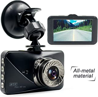 Poetele Metal Shell Dash Cam,Small Dashboard Car Camera Recorder with Full HD 1080P,6-Lane 170° Wide Angle Lens,3
