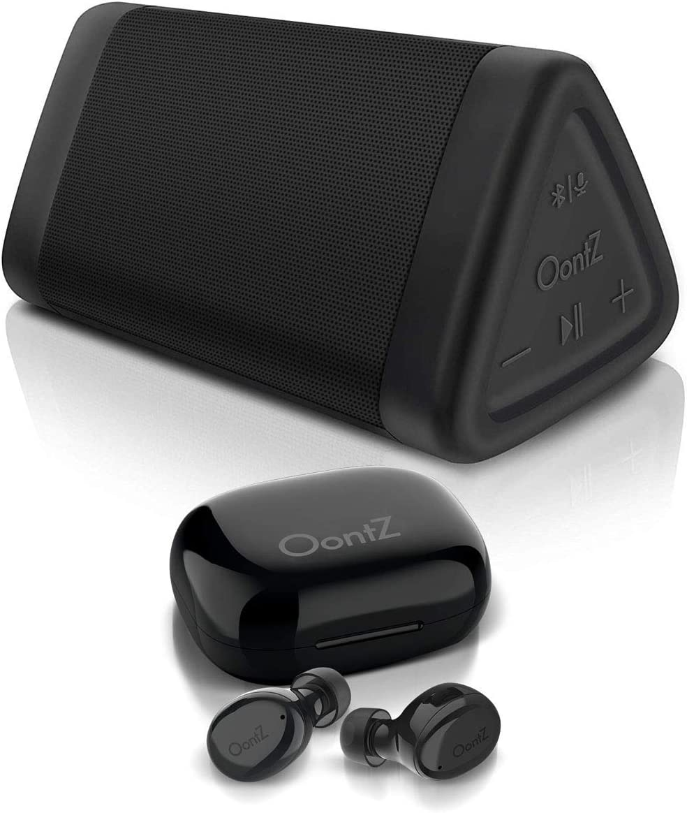 OontZ Angle 3 Bluetooth Speaker and True Wireless Bluetooth 5.0 BudZ (Black), Rich Bass, Enhanced Sound Quality, IPX 5 Water Resistant by Cambridge Soundworks