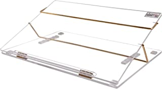 Rasper Clear Acrylic Table Top Elevator Writing Table Desk (Standard Size 21x15 Inches) 8MM Premium Quality with 1 Year Wa...