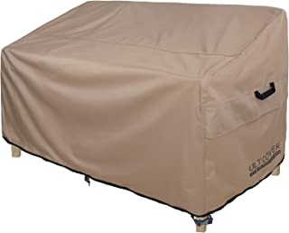 ULTCOVER Patio Furniture Sofa Cover 74W x 35D x 35H inch Waterproof Outdoor 3-Seater Couch Cover