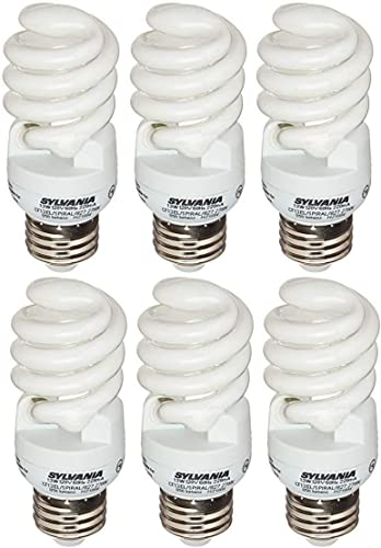 popular Sylvania 13W popular CFL T2 Spiral Light Bulb, 60W Equivalent, 850 Lumens, 2700K Soft White, Non-Dimmable (Soft high quality White- 6 Pack) outlet sale