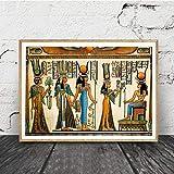 liwendi Ägyptische Wandkunst Leinwand Poster Pergament