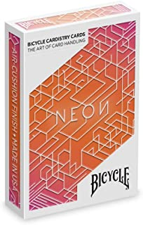 Bicycle Neon Orange Bump Koleksiyoner iskambil Oyun Kağıdı Cardistry Kartları