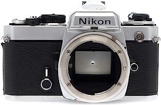 Chrome Nikon FE SLR film camera; body only, lens is not included